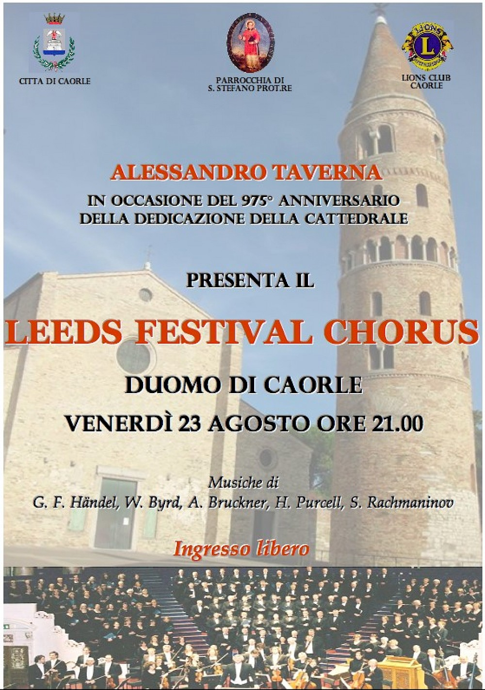 A poster for the concert at Caorle