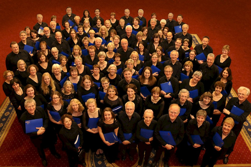 Some members of the Chorus in 2015 before a concert